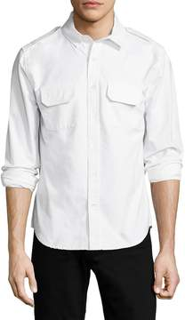 Joe's Jeans Men's Military Cotton Sportshirt