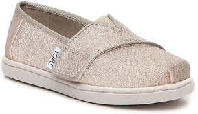 Toms Girls Glitter Infant & Toddler Flat