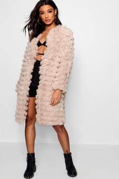 boohoo Alisha Shaggy Faux Fur Coat