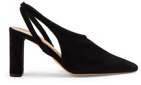 The Row Camil slingback suede block-heel pumps