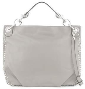 Rebecca Minkoff Luscious Leather Hobo Bag. - GRAY - STYLE