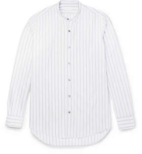 Dries Van Noten Claver Grandad-Collar Striped Cotton Shirt