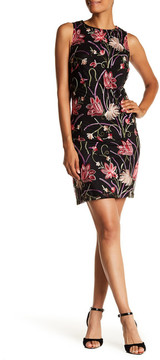 Donna Ricco Floral Embroidered Shift Dress
