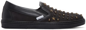Jimmy Choo Black Star Grove Slip-On Sneakers