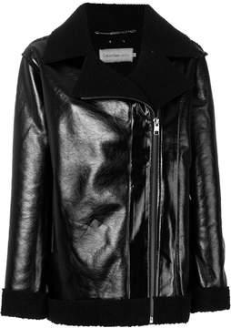 Calvin Klein Jeans off-centre zip coat