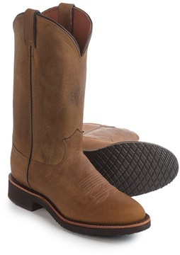 "Chippewa Golden Sand Crazy Horse Leather Cowboy Boots - Round Toe, 12"" (For Men)"