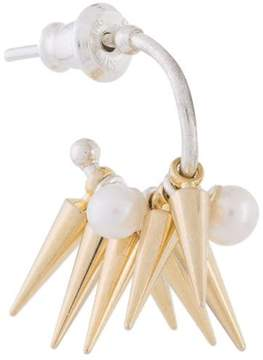 E.m. pearl cluster spiked earring