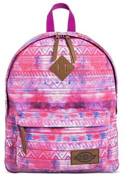 Dickies Women's Canvas Backpack Handbag with Tribal Design and Zip Closure - Pink