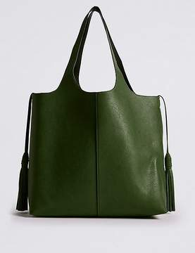 Marks and Spencer Faux Leather Tassel Shopper Bag