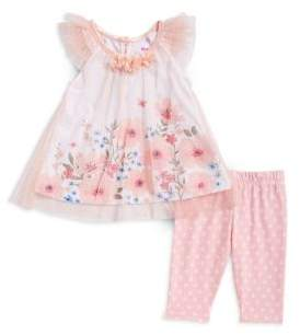 Nannette Baby Girl's Two-Piece Floral Tunic and Leggings Set