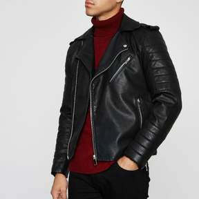 River Island Mens Black biker jacket