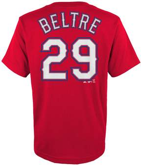 Majestic Boys 4-18 Texas Rangers Adrian Beltre Player Name and Number Tee