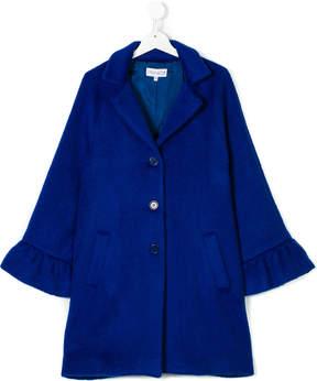 Simonetta Teen ruffle detail coat