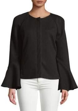 Isaac Mizrahi IMNYC Zip Front Tier Sleeve Short Jacket