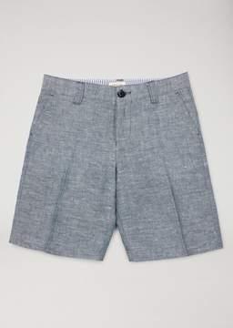 Armani Junior Linen And Cotton Bermuda Shorts