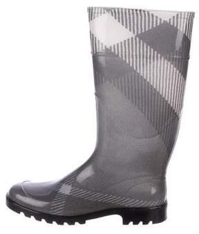 Burberry House Check Rain Boots