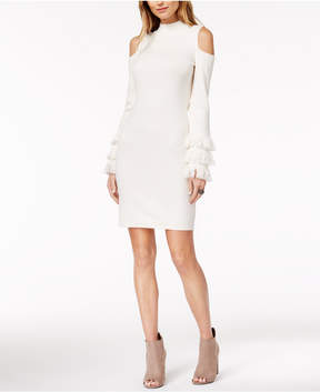 Bar III Cold-Shoulder Sweater Dress, Created for Macy's