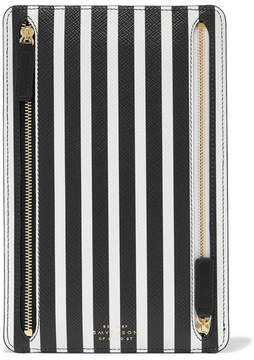 Smythson Panama Striped Textured-leather Wallet - Black