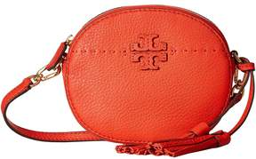 Tory Burch McGraw Round Crossbody Cross Body Handbags - POPPY RED - STYLE