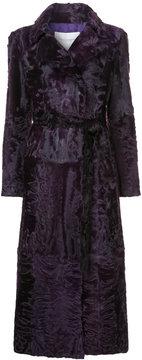 Carolina Herrera fur wrap coat