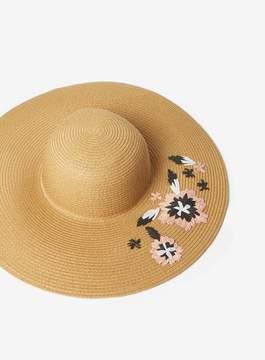 Dorothy Perkins Coral Raffia Floppy Hat