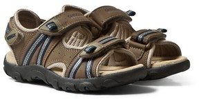 Geox Brown Velcro Strada Sandals