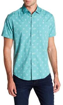 Report Collection Whale Short Sleeve Slim Fit Shirt