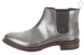 Brunello Cucinelli Metallic Leather Ankle Boots w/ Tags