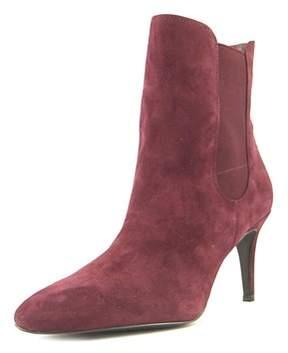 Lauren Ralph Lauren Pashia Women Pointed Toe Suede Burgundy Ankle Boot.