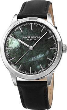 Akribos XXIV Green Marble Dial Watch, 41mm