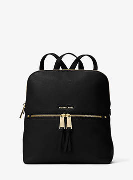 Michael Kors Rhea Medium Slim Leather Backpack - BLACK - STYLE