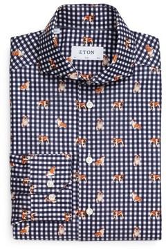 Eton Men's Slim Fit Print Dress Shirt