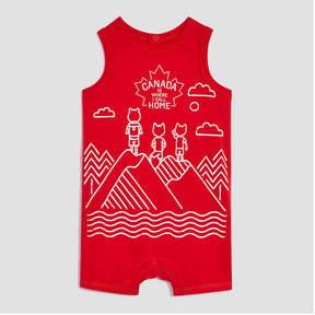 Joe Fresh Baby Boys' Canada Print Sleeveless Romper