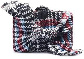 Oscar de la Renta   Tweed Rogan Bow Box Clutch   Black multi