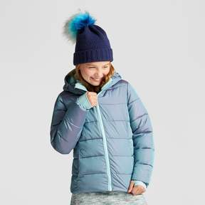 Champion Girls' Puffer Jacket Teal