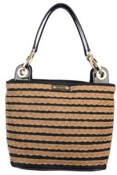 Eric Javits Leather-Trimmed Canvas Tote