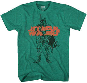 Star Wars Novelty T-Shirts Boba Warps Graphic Tee