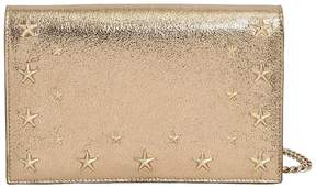 Jimmy Choo Sky Metallic Leather Clutch W/ Stars
