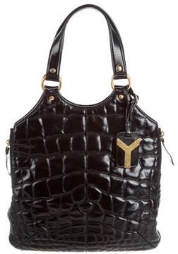 Saint Laurent Quilted Tribute Tote - BLACK - STYLE