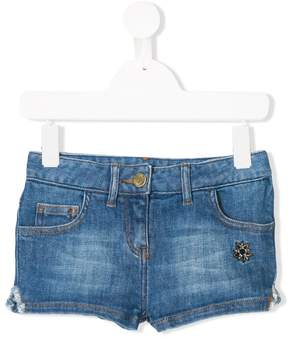 Zadig & Voltaire Kids star patch denim shorts