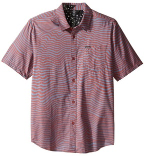 Volcom Vibe Daze Short Sleeve Woven Top Boy's Short Sleeve Button Up