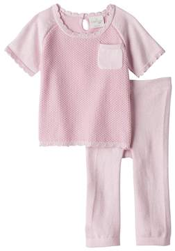 Cuddl Duds Baby Boy Knit Textured Top & Heart Pants Set