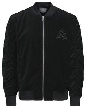 Jack and Jones Fear From Unknown Velvet Bomber Jacket