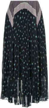 ASTRAET printed pleated skirt