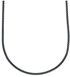 Armani Exchange Jewelry Stainless Steel 24-inch 4mm Rolo Black Chain Necklace.