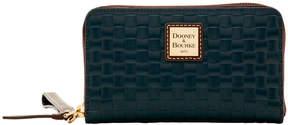 Dooney & Bourke Claremont Woven Zip Around Phone Wristlet - BLACK - STYLE