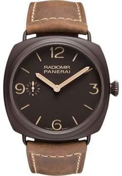 Panerai Radiomir Composite / Leather Manual 47mm Mens Watch