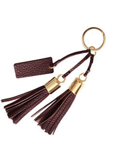 Cuyana Leather Tassel Keychain