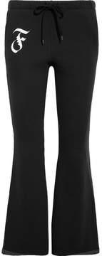 Facetasm Cropped Cotton-jersey Flared Pants - Black