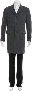 Calvin Klein Collection Woven Button-Up Coat